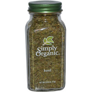 5 PACK of Simply Organic, Basil, 0.54 oz (15 g)