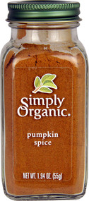 5 PACK of Simply Organic Pumpkin Spice - 1.9 oz