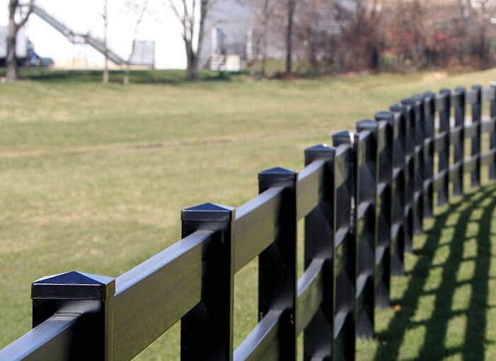 Black Vinyl Railing Amp Fences Horse Fence Post Amp Rail