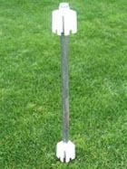 "Fence Post Mount - Vinyl Fence Post - ""No Dig"" Drive In Ground"