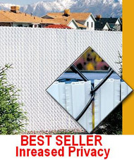 Fence Slats Privacy - Winged Slat Double Wall - Increased Privacy Chain link- Price / 10ft Bag