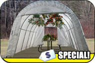 Greenhouse Round Top, 12'W x 20'L x 8'H and 12'W x 24'L x 8'H