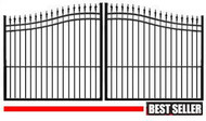 Palace ALUMINUM Estate Arch Drive Gates - Double Black