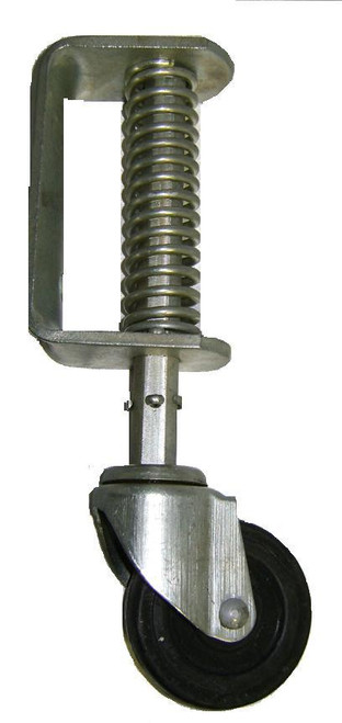 "Single Gate Helper Wheel Chain link Fence Gate 3"" Wheel- Spring Loaded"