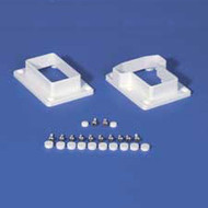 "T-RAIL BRACKET KIT 2"" X 3-1/2"" - Vinyl Railing - Vinyl Fence Parts"
