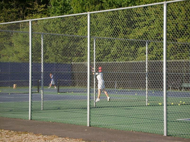 Tennis Court Fence 10 Ft High Tcgv20 System Per Ft Galvanized Posts