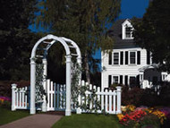 Vinyl Arbor Nantucket II with Gate & Wings