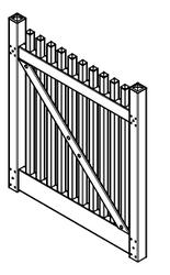 "Weston Vinyl Fence Gate Kit, SELF ASSEMBLY 1-1/2"" Balusters"