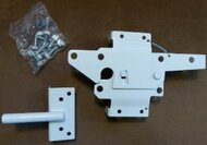 Vinyl Fence Steel Gate Latch (White)