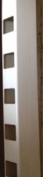 """Vinyl White Rail 2"""" x 3-1/2"""" x 8ft long, Routed with picket holes 1-1/2 sq. on both sides"""