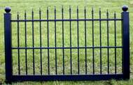 Black Vinyl Fence 4 ft x 6 ft BSL-30