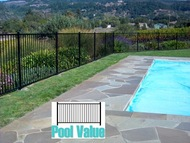 Wrought Iron Steel Fences - 2 Rail, 8ft long  Flat top & bottom-PFF 3000 unassembled kits,  Posts not included