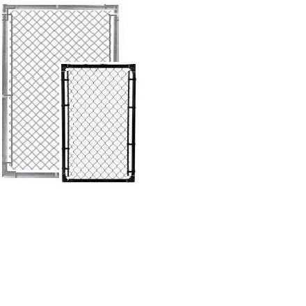 Chain link fence post sizes Concrete Image Fencematerial Chain Link Fence Gates 138