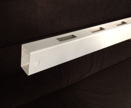 "Vinyl White Rail 2"" x 3-1/2"" x 8ft long, Routed with picket holes 7/8""x3"" on both sides (Rtdrail78)"