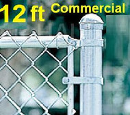 "12 ft Galvanized Commercial System Complete Package. The price per ft. Includes: All Line Posts (2"" OD x 15 ft) with hardware every 10 feet, All Top Rail (1-5/8""), All Mesh (2"" x 9 gauge). ENTER TOTAL LINEAR FEET IN Qty box."
