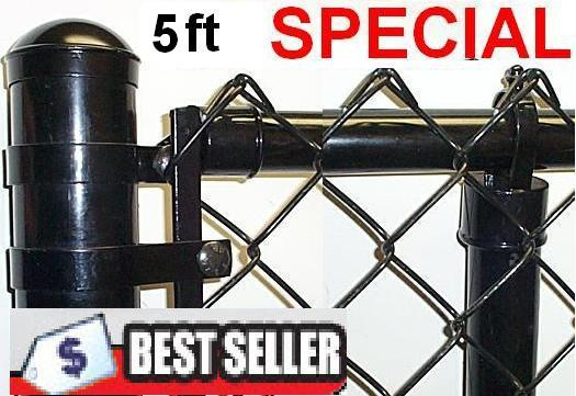 5 Ft Vinyl Coated System Complete Includes 2 X 9 Ga Mesh 1 3 8 Top Rail 1 5 8 Line Posts And All Hardware