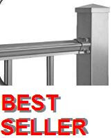 "Aluminum Deck Railing -2000, 3 ft high x 6 ft wide Section, 5/8"" pickets"