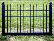 Black Vinyl Fence 4 ft x 6 ft BSL-10