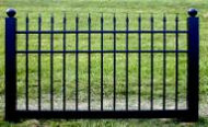 Black Vinyl Fence 4 ft x 6 ft BSL-20