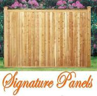 BRANFORD Good Neighbor, Cedar Fence - V-match Premium Panels Pre-Built with T&G Boards, 6ft H x 8ft W, both sides finished as shown in picture