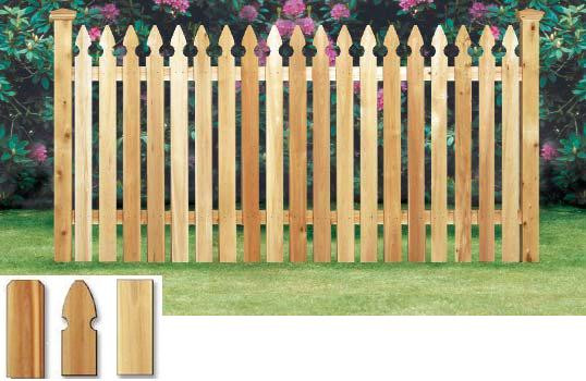Simsbury Cedar Fence French Gothic Spaced Picket Pre Built