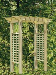 Cedar Wood Pergola Arbor 4 ft Opening
