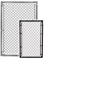 "Chain Link Fence Gates - 1-5/8"" Frames SELF ASSEMBLY Component kit, with Hinges & Latch, Buy 2 for Double gate opening"