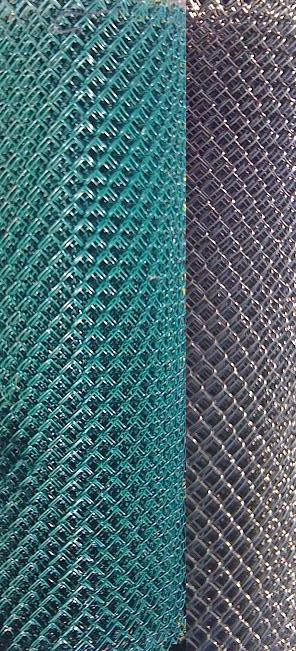 Pool Mesh Chain Link Fence Galvanized Steel Wire With Vinyl