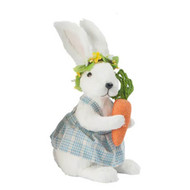 Spring Bunny Girl with Carrot