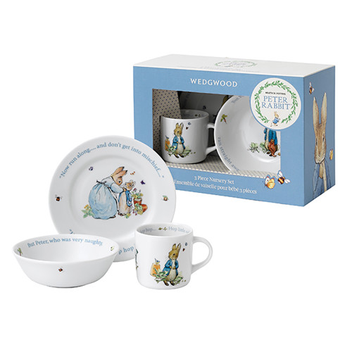 Wedgwood Peter Rabbit Boy 3 Piece Dinner  Set