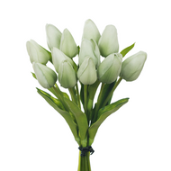 Lights Green Tulip Bud Real Touch Bouquet