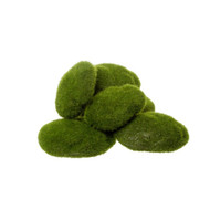 Green Mossy Rocks 12 Pack - Assorted Sizes