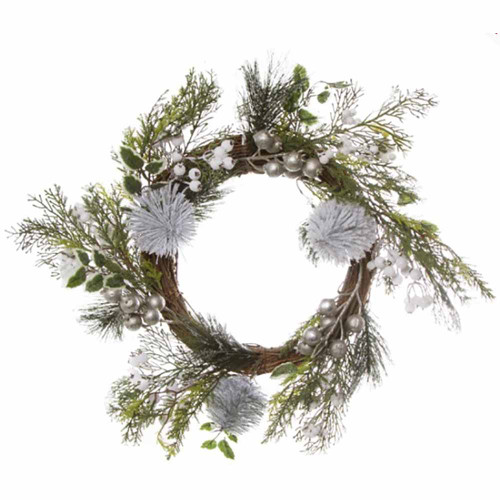 Alpine Snow White Berry Christmas Wreath
