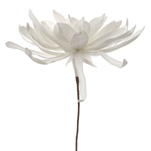 Foam Lotus White Stem