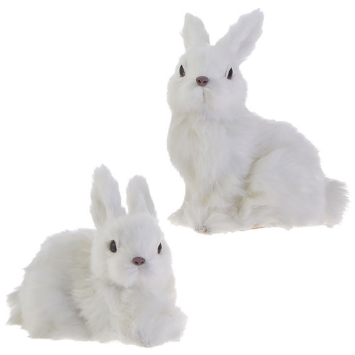 RAZ White Furry Bunny (2 Designs)