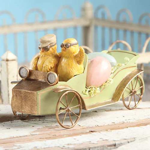 Bethany Lowe Chicks in Car