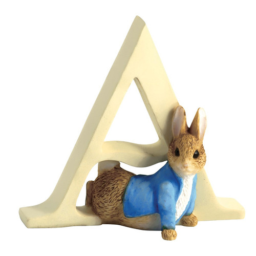 Beatrix Potter - Letter A Peter Rabbit Figurine