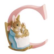 Beatrix Potter - Letter C Letter Mrs Rabbit & Carrot Figurine