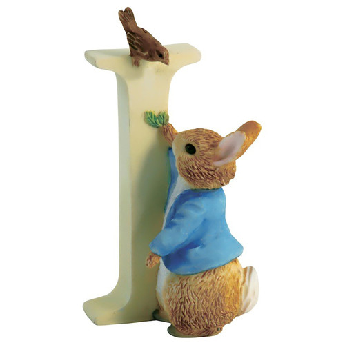 Beatrix Potter Classic - Letter I Peter Rabbit Figurine