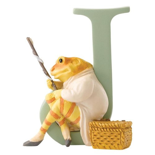 Beatrix Potter Classic - Letter J Mr Jeremy Fisher Figurine