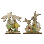 Wooden Easter Bunny Sign
