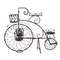 Penny Farthing Bicycle Planter Rustic Brown