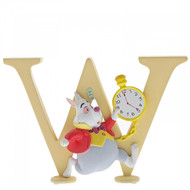 Disney Letter W - White Rabbit from Alice in Wonderland  - 7cm
