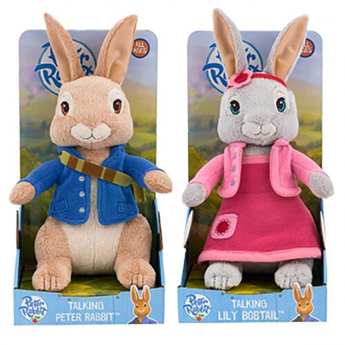 Talking Peter And Lily Plush - 2 Designs