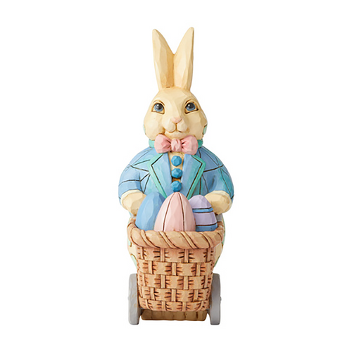 Jim Shore Bunny Pushing Cart