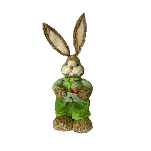 Bristlestraw Rabbit Easter Bunny With Basket Green Female