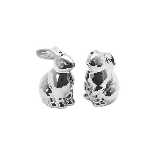 Pembroke Ceramic Silver Salt And Pepper Bunny