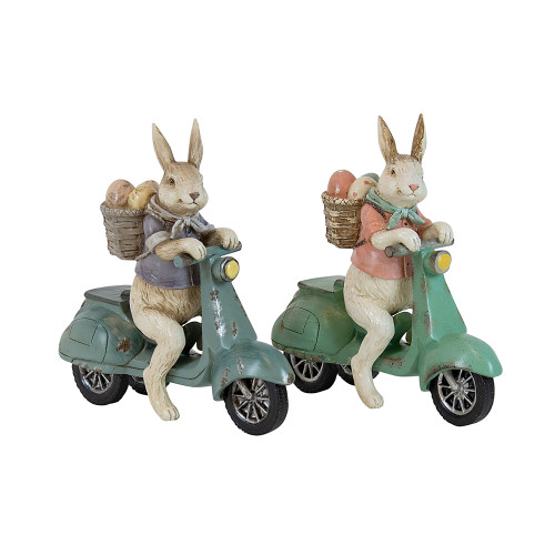 Potter Pastel Bunnys On Moped (2 Designs)