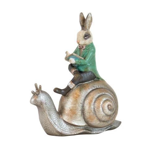 Potter Green Coat Bunny On Snail