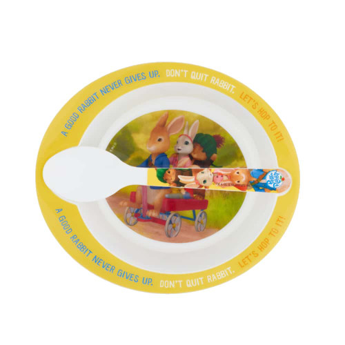 Peter Rabbit Animated Bowl And Spoon